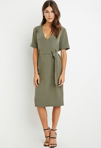 F21 D-Ring Belt Dress