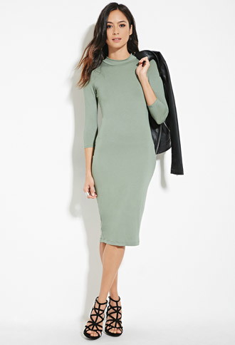 f21 Mock Neck Bodycon