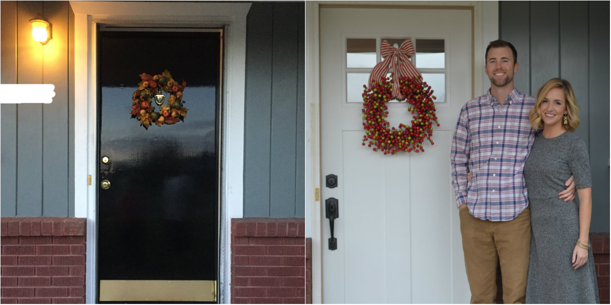 Before and After of front door